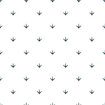 生地、壁紙、バナーの鶏の足跡のシームレスなパターン。