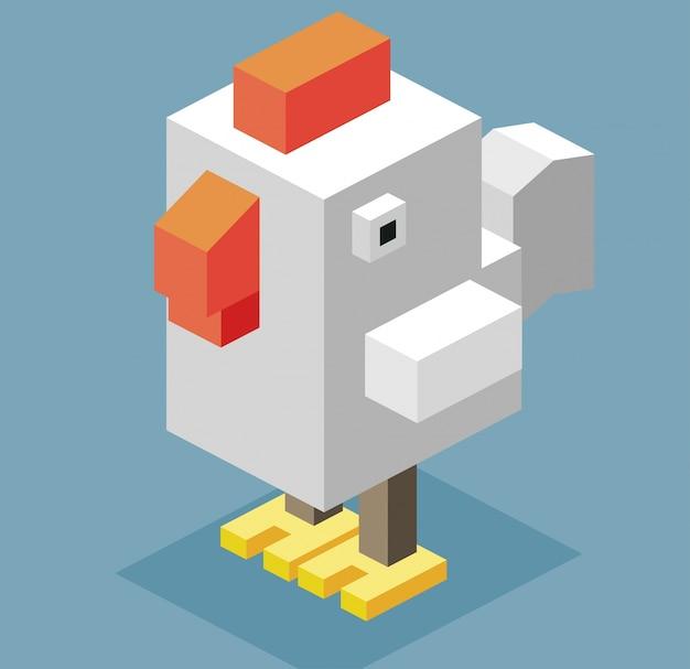 Chicken isometric design