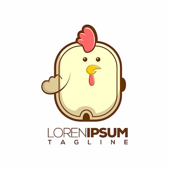 Chicken logo or logotype template