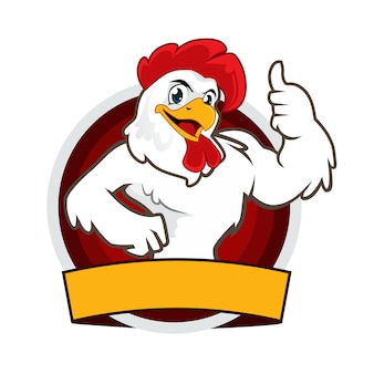 Chicken mascot cartoon logo