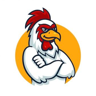 Chicken mascot cartoon