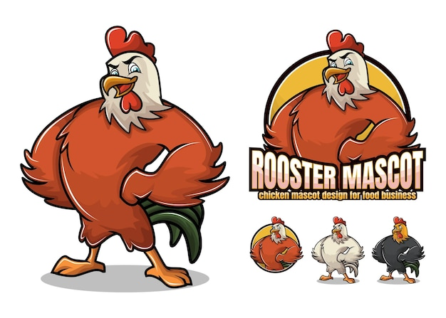 Chicken mascot  for food business