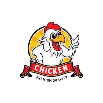 Chicken mascot logo design