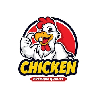 Chicken mascot logo