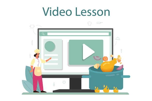 Chicken online service or platform illustration