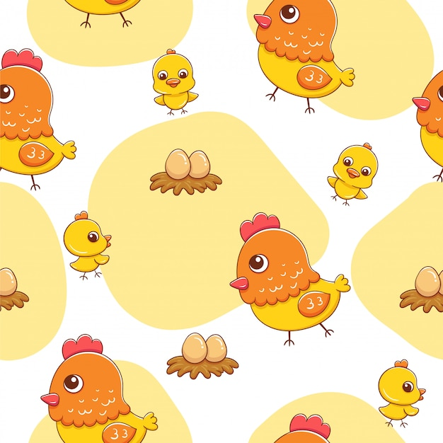 Chicken pattern,