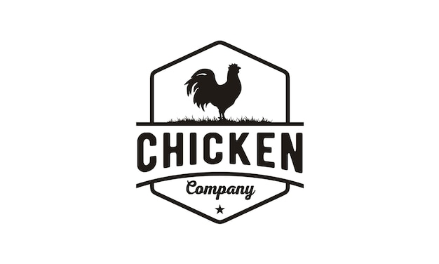 Chicken / rooster vintage logo design