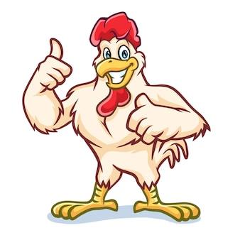 チキンはマスコットデザインを誇りに思う