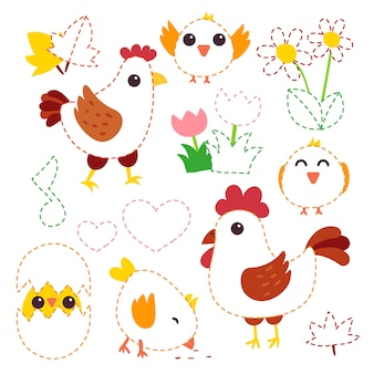 Chicken vector character design