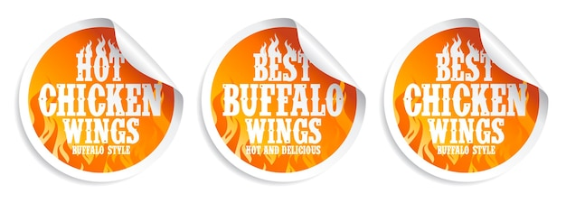 Chicken wings food stickers.