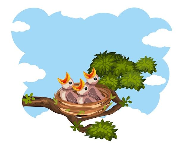 Цыплята и их мать-птица в природе