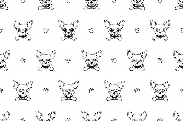 Chihuahua dog seamless pattern