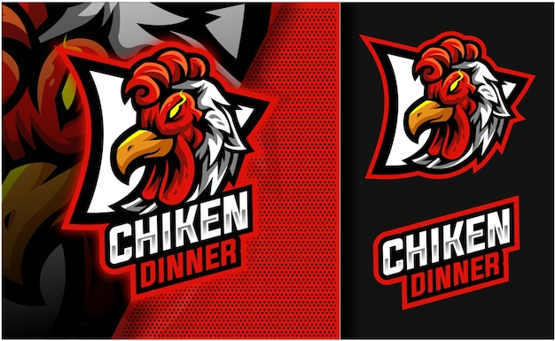 チケンディナーマスコットロゴ