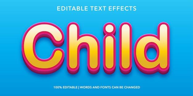 자식 3d 스타일 편집 가능한 텍스트 효과