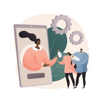 Иллюстрация абстрактной концепции онлайн-платформы по уходу за детьми