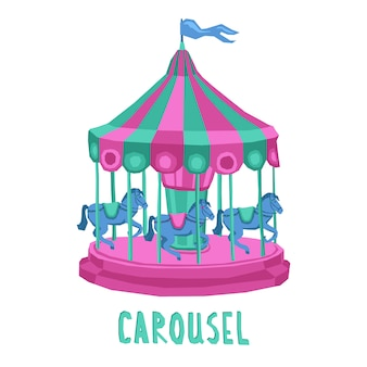 Child carousel illustration