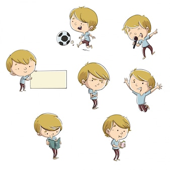 Child in different poses