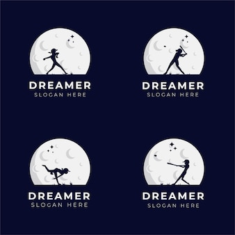 Child dream logo design i collection