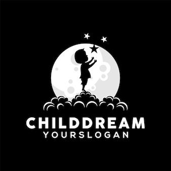 Child dream logo design illustration vector