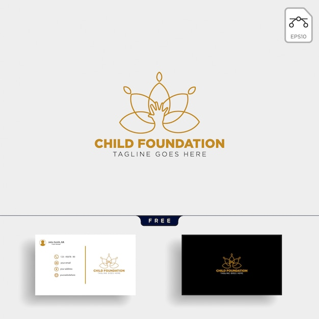 Child foundation logo template