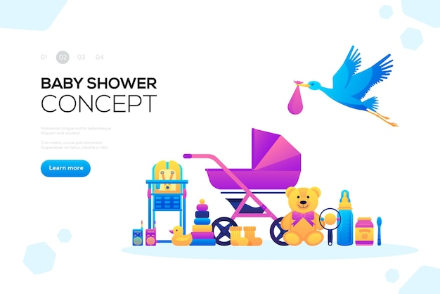 Child illustrations . world breastfeeding week and kids elements flat icon set concept.