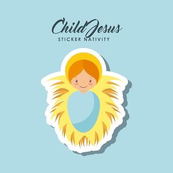 Child jesus sticker