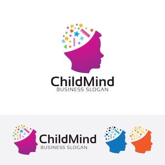 Шаблон логотипа child mind