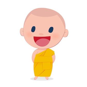 A child monk smile