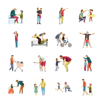 Child rearing icons pack