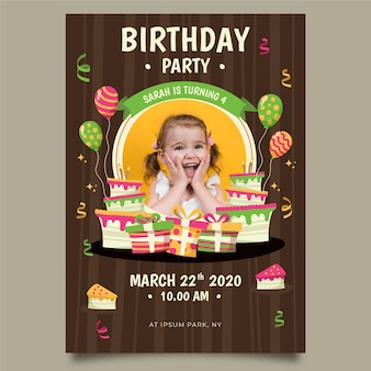 Child's birthday invitation template