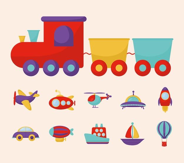 Child transport set