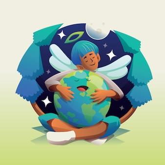 地球世界環境デーの子供
