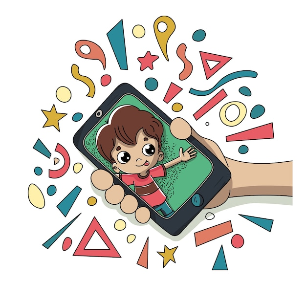 Child with a mobile