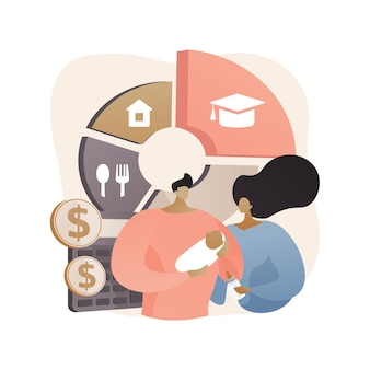 Childcare expenses abstract concept illustration