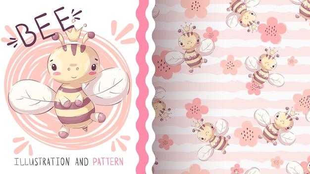 幼稚な漫画のキャラクターの動物の蜂