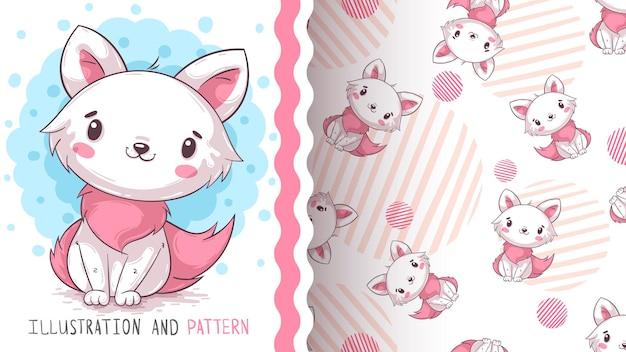 幼稚な漫画のキャラクター動物象のシームレスなパターン