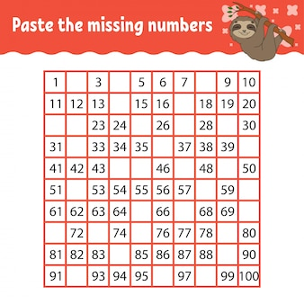 Childish game with animal to learn numbers