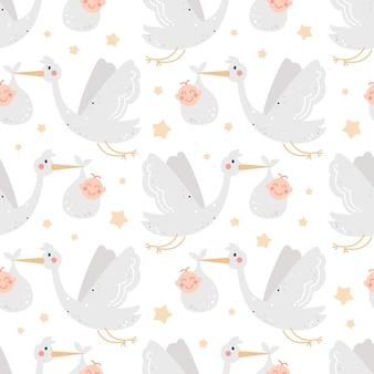 황새와 유치 한 완벽 한 패턴