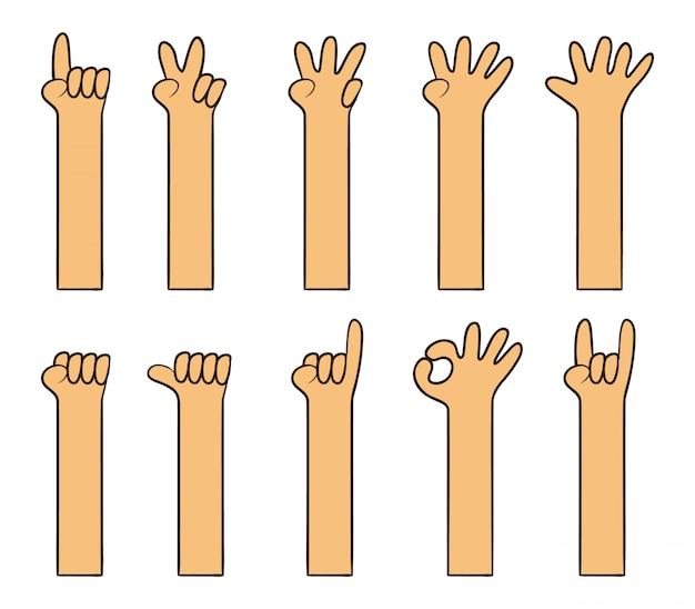 Childish simple cartoon hand