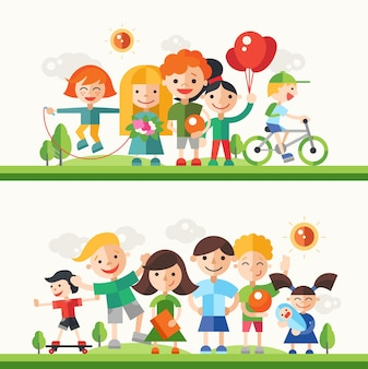 Дети и их хобби и занятия - modern flat