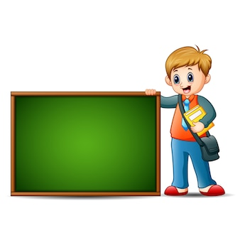 Children are learn something on blackboard