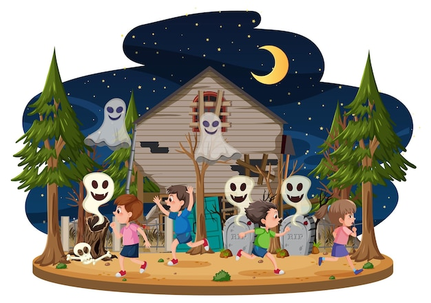 유령의 집에서 아이들