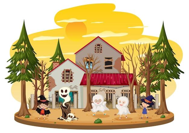 Дети в доме с привидениями