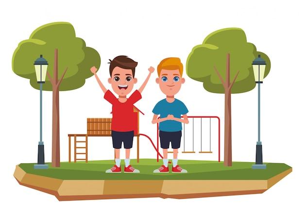 Children avatar cartoon character portrait