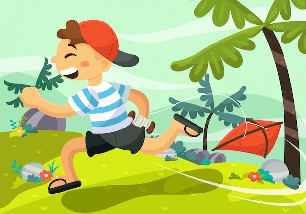 Children background with outdoor landscape