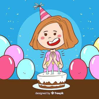 子供の誕生日の背景