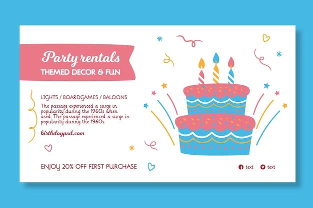Modello di banner di compleanno per bambini