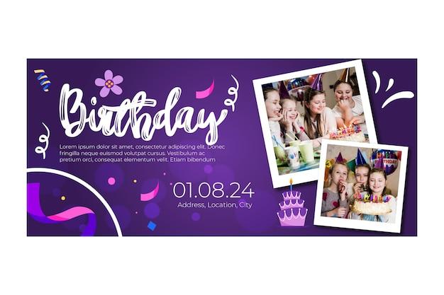 Children birthday banner