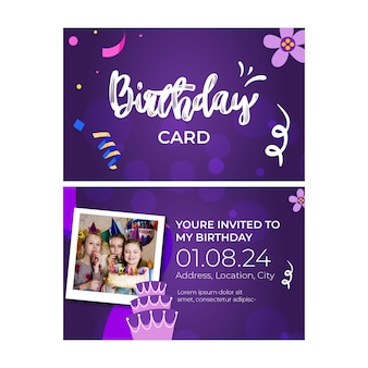 Children birthday card