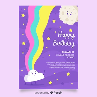 Children birthday invitation template